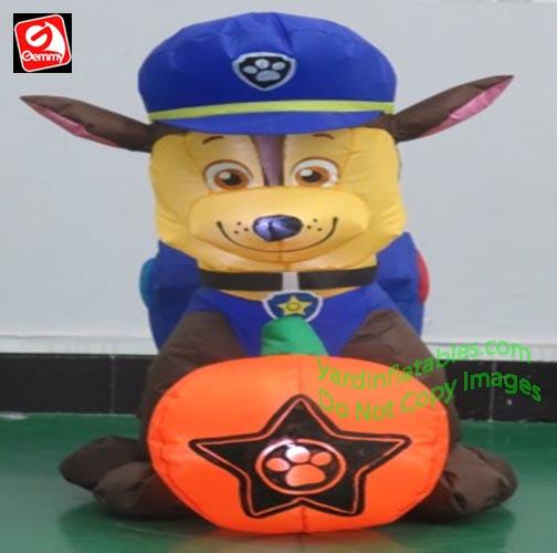 Gemmy Airblown Inflatable 3 Paw Patrol Chase W Pumpkin