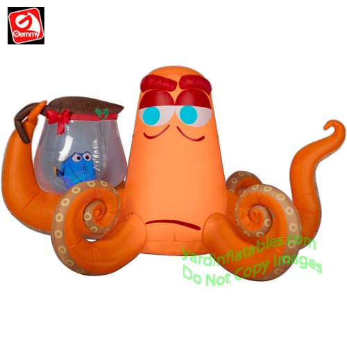 gemmy airblown inflatable 8 1 2 hank holding dory in coffee pot