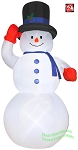 12' Giant Snowman w/ Red Mittens
