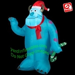 3 1/2' Sulley Holding Green Candy Cane Monsters Inc