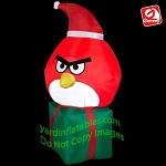3 1/2' Red Angry Bird On Present