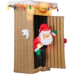 Animated Airblown Santa Outhouse