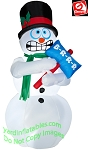 6' Animated Shivering snowman