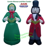 Christmas Carolers Man Woman COMBO