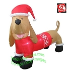 Dachshund Wiener Dog Wearing Red Christmas Sweater