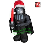 3 1/2' Star Wars Darth Vader Wearing Santa Hat