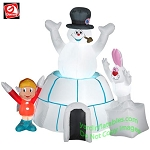 Frosty The Snowman In Igloo With Karen & Rabbit