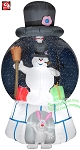Frosty The Snoman Snow Globe With Top Hat