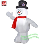 3 1/2' Frosty The Snowman Wearing Red Scarf