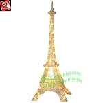 5' Gemmy LightShow Sparkle GOLDEN LED Eiffel Tower Yard Decor