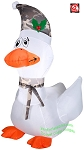 3 1/2' White Goose Wearing Camo Hat & Scarf