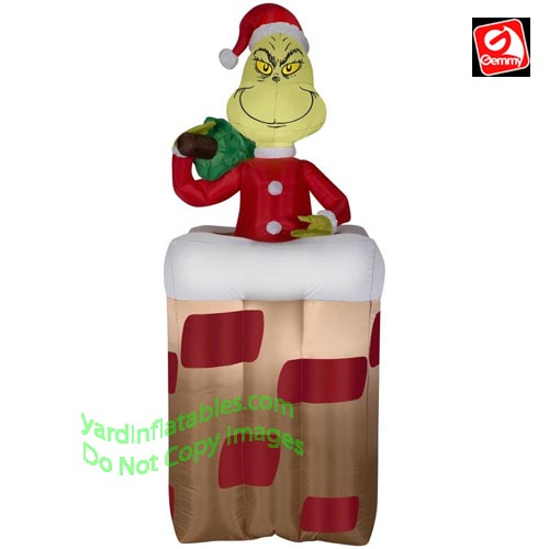 Gemmy Airblown Inflatable 6 Animated Grinch Popping Out