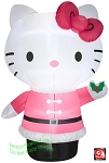 5' Hello Kitty Holding Mistletoe