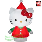 Mixed Media Hello Kitty Wearing Red Dress And Santa Hat
