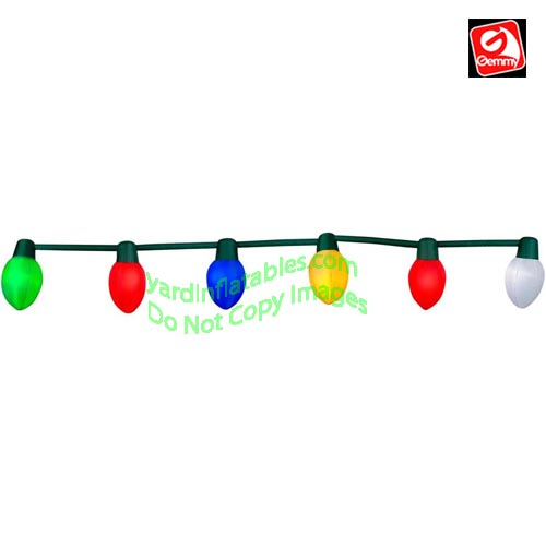 14 12 inflatable multi color christmas light string - Christmas Light String