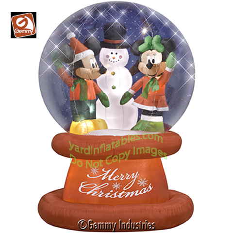Pin christmas snow globe with magic winter composition and falling on