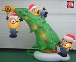 10' Minions Decorating A Christmas Tree