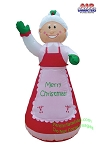 7' Inflatable Mrs. Claus