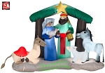 Nativity Scene w/ Camel, Donkey, And Sheep