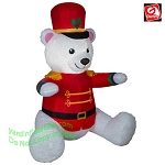 6 1/2' Mixed Media Nutcracker White Bear