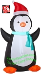 Penguin w/ Light Bluish Green Scarf and Santa Hat