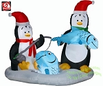 Animated Penguins Ice Fishing