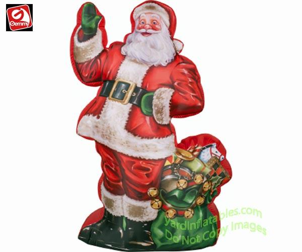Gemmy airblown inflatable photorealistic santa claus w