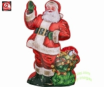 7' Photorealistic Santa Claus w/ Sack of Gifts