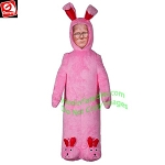 6' MIXED MEDIA PLUSH Ralphie in Bunny Suit