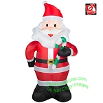 3 1/2' Santa Holding Green Candy Cane