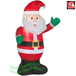 3 1/2' Santa Waiving Green Mittens