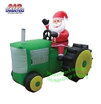 Santa Claus On Tractor