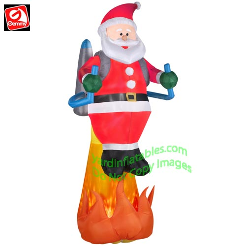 8 12 projection fire ice santa w jet pack - Snoopy Blow Up Christmas Decorations
