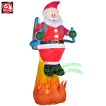 8 1/2' Projection Fire & Ice Santa w/ Jet Pack