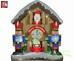 Animated Santa Clock Scene w/ Nutcrackers