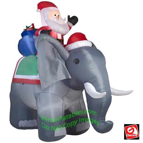 f33e40d18cbde 10 1 2  Santa Riding Elephant Scene