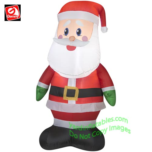 4 santa wearing green mittens - Lowes Blow Up Christmas Decorations