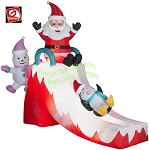 Santa, Snowman and Penguin Ice Slide Scene