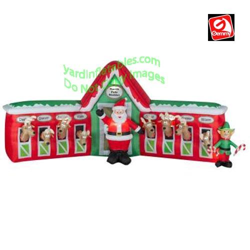 13 santa stable 8 reindeer scene 13 santa stable 8 reindeer scene item ...