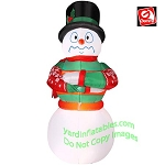 Animated Shivering Snowman Wearing Red And Green Sweater