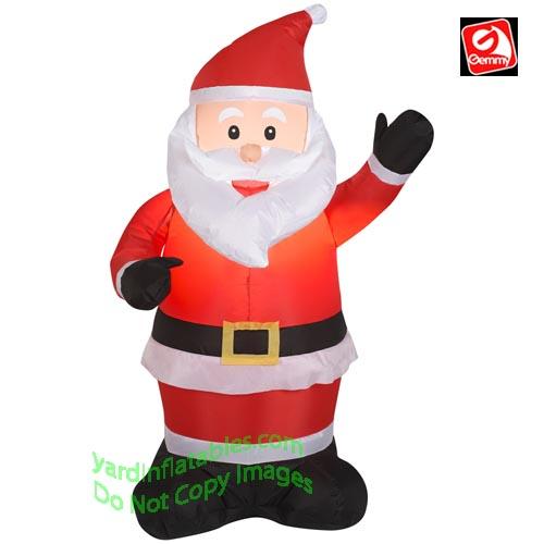Gemmy airblown inflatable santa waving left hand
