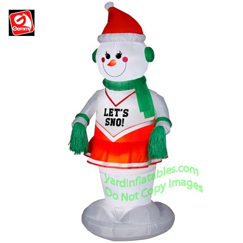 Gemmy Airblown Inflatable 6 Animated Dancing Snowgirl