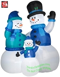 Colossal Snowman Family Scene