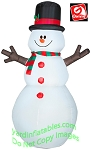 6' Snowman With Stick Arms
