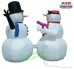 Snowman Hair Dryer Stick-up Scene