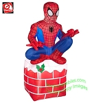3 1/2' Spiderman Sitting On Chimney