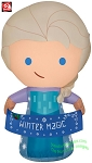 3 1/2' Airblown Inflatable Frozen's Elsa w/ Banner