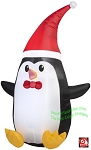 4' Penguin Wearing Santa Hat