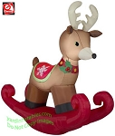 6' Inflatable Rocking Reindeer