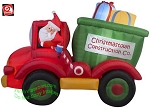8' Animated Dump Truck w/ Presents